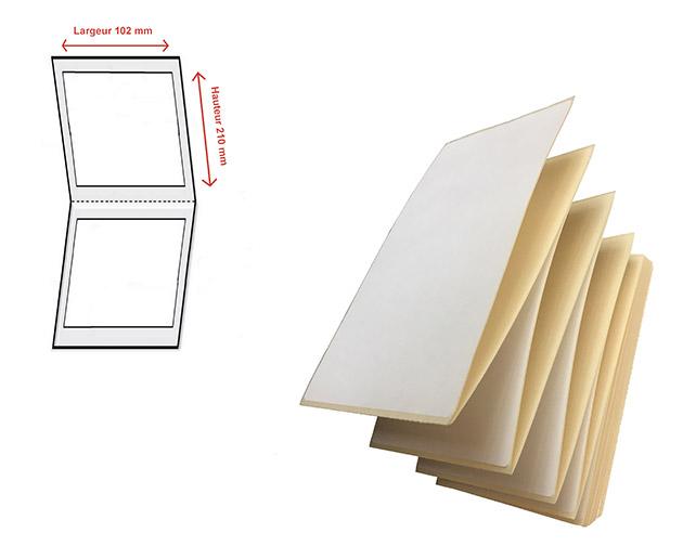 Etiquettes transfert thermique en velin - Ref 1352