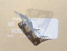 Etiquettes adhésives polyester VOID - Ref 16417