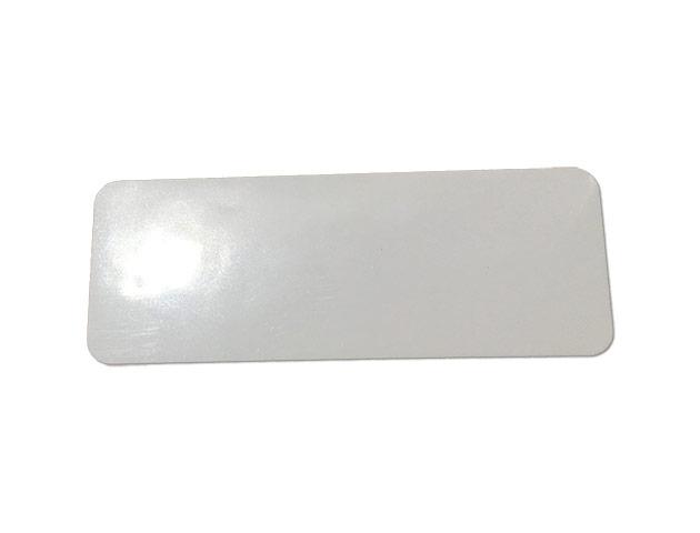 Etiquettes adhésives PE brillant blanches - Ref 16418