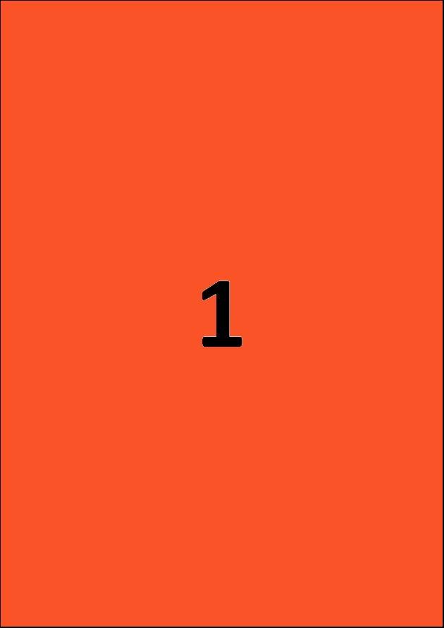 Etiquette rouge par A4 - Ref 252 R