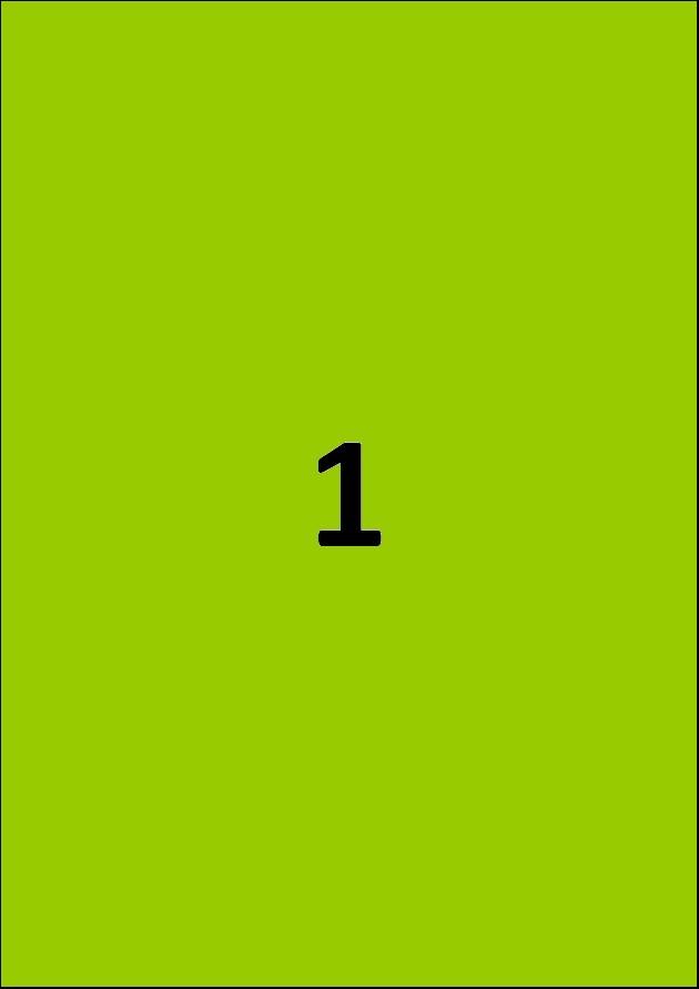 Etiquette verte par A4 - Ref 252 V
