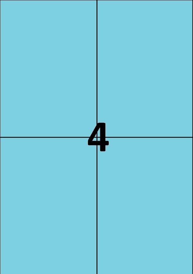 4 etiquettes bleues par A4 - Ref 256 B