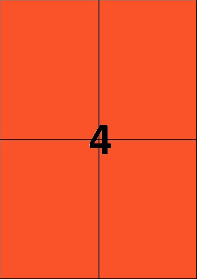 4 etiquettes rouges par A4 - Ref 256 R