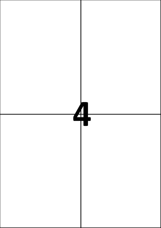 4 etiquettes blanches par A4 - Ref 256