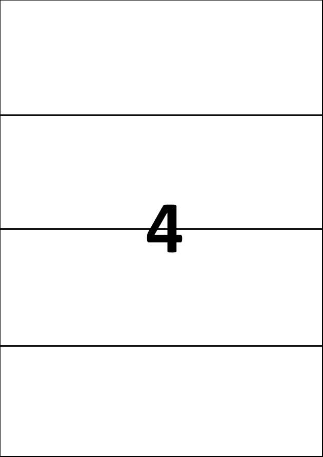 4 etiquettes blanches par A4 - Ref 568