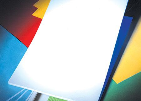 Etiquettes en planches A4 blanches