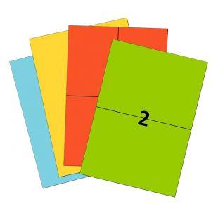Etiquettes couleurs en planches A4