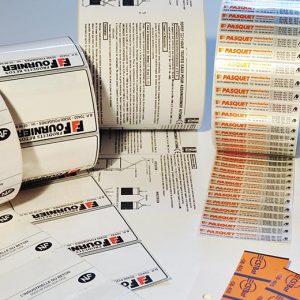 Etiquettes pré-imprimées