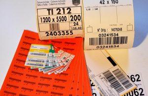 Etiquettes codes-barres