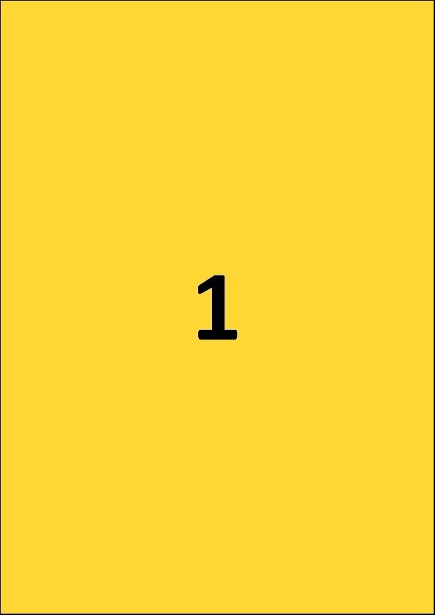 Etiquette jaune par A4 - Ref 252 J